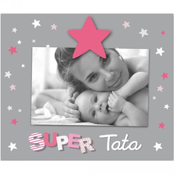 Cadre photo bébé à poser super tata Titoutam