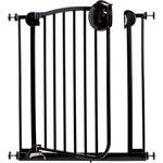 Barrière de sécurité métal laqué noir 72-78 cm