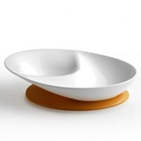 Assiette decouverte 6 mois et + blanc/orange
