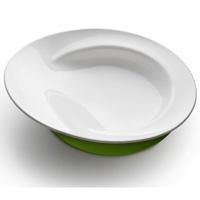 Assiette d apprentissage 18 mois et + blanc/vert