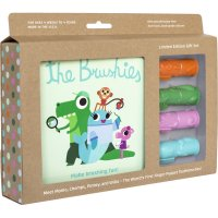 Coffret cadeau the brushies 4 brosses à dents + livre