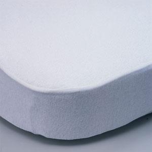 Alèse lit bébé coton 70x140cm blanc