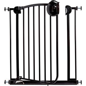 Barrière métal laqué noir 72 - 78 cm