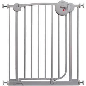 Barrière métal gris mate 72 - 78 cm