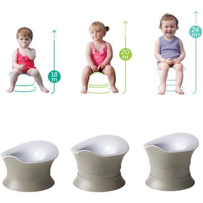 Pot bébé évolutif blanc/galet Angelcare