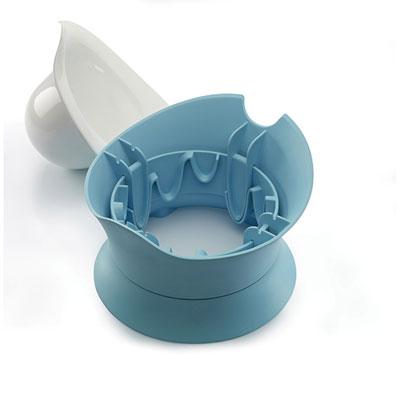 Bellemont Pot bébé évolutif blanc/bleu