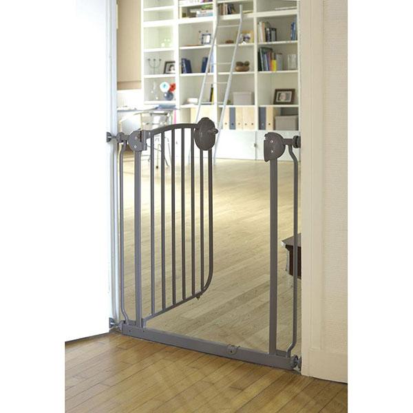 Barrière de sécurité métal taupe 72-78 cm Angelcare