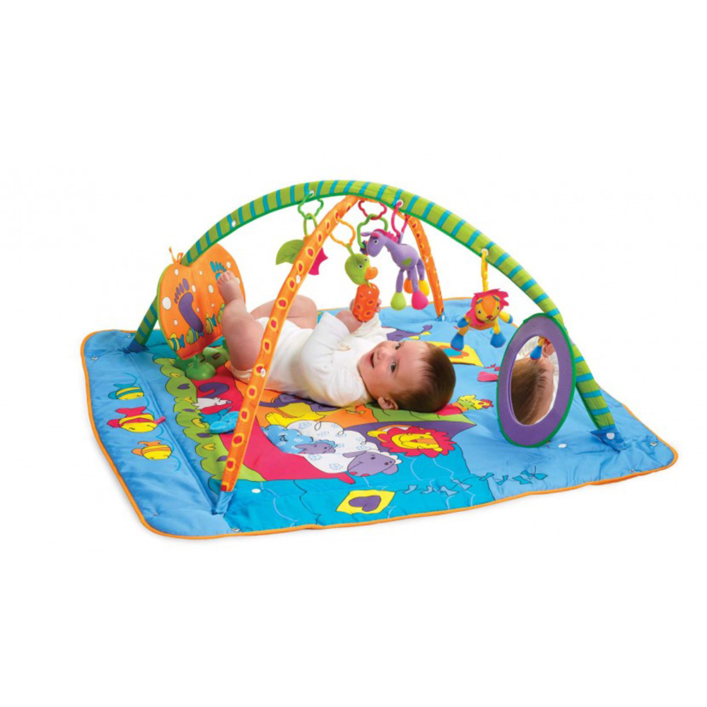 Tapis d 39 veil gymini kick and play de tiny love sur allob b - Tapis d eveil tiny love move and play ...