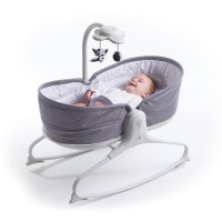 Transat bébé rocker napper evolution gris chiné