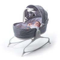 Transat bébé rocker napper cozy evolution gris chiné
