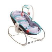 Transat bébé rocker napper gris turquoise