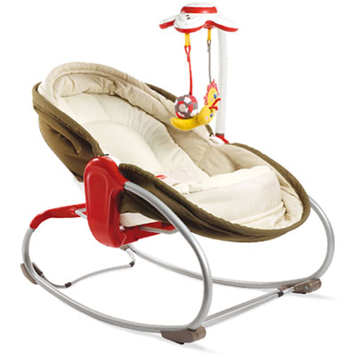 Transat bebe rocker napper 3 en 1 taupe Tiny love