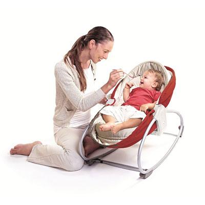 Transat bebe rocker napper 3 en 1 rouge Tiny love