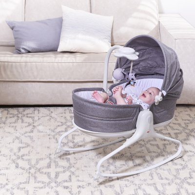 Transat bébé rocker napper cozy evolution gris chiné Tiny love
