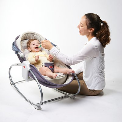 Transat bébé rocker napper cozy gris Tiny love