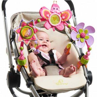 Jouet de voyage bébé arche articulée sunny stroll princesse Tiny love