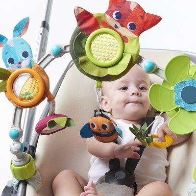 Jouet de voyage bébé arche articulées dans la prairie Tiny love