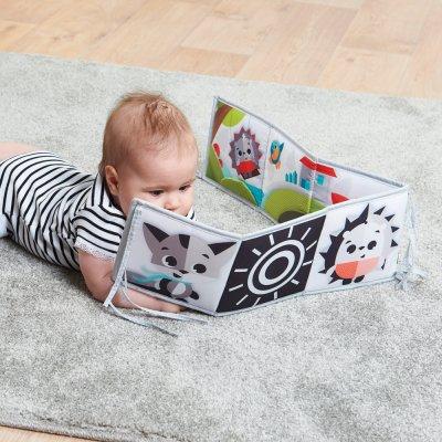 Livre d'éveil bébé double face black & white prairie Tiny love