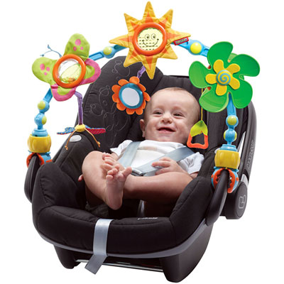 Jouets de voyage bébé arche articulee sunny stroll Tiny love