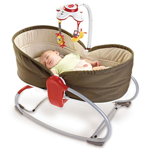 Transat bebe rocker napper 3 en 1 taupe Tiny love