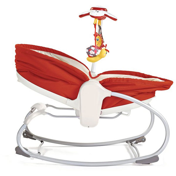 Transat bebe rocker napper 3 en 1 rouge Tiny love