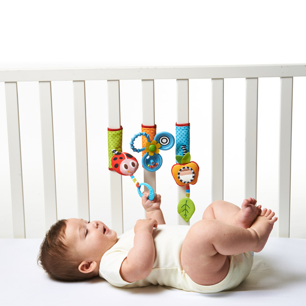 Jouet de voyage bébé trio pour lit et poussette Tiny love