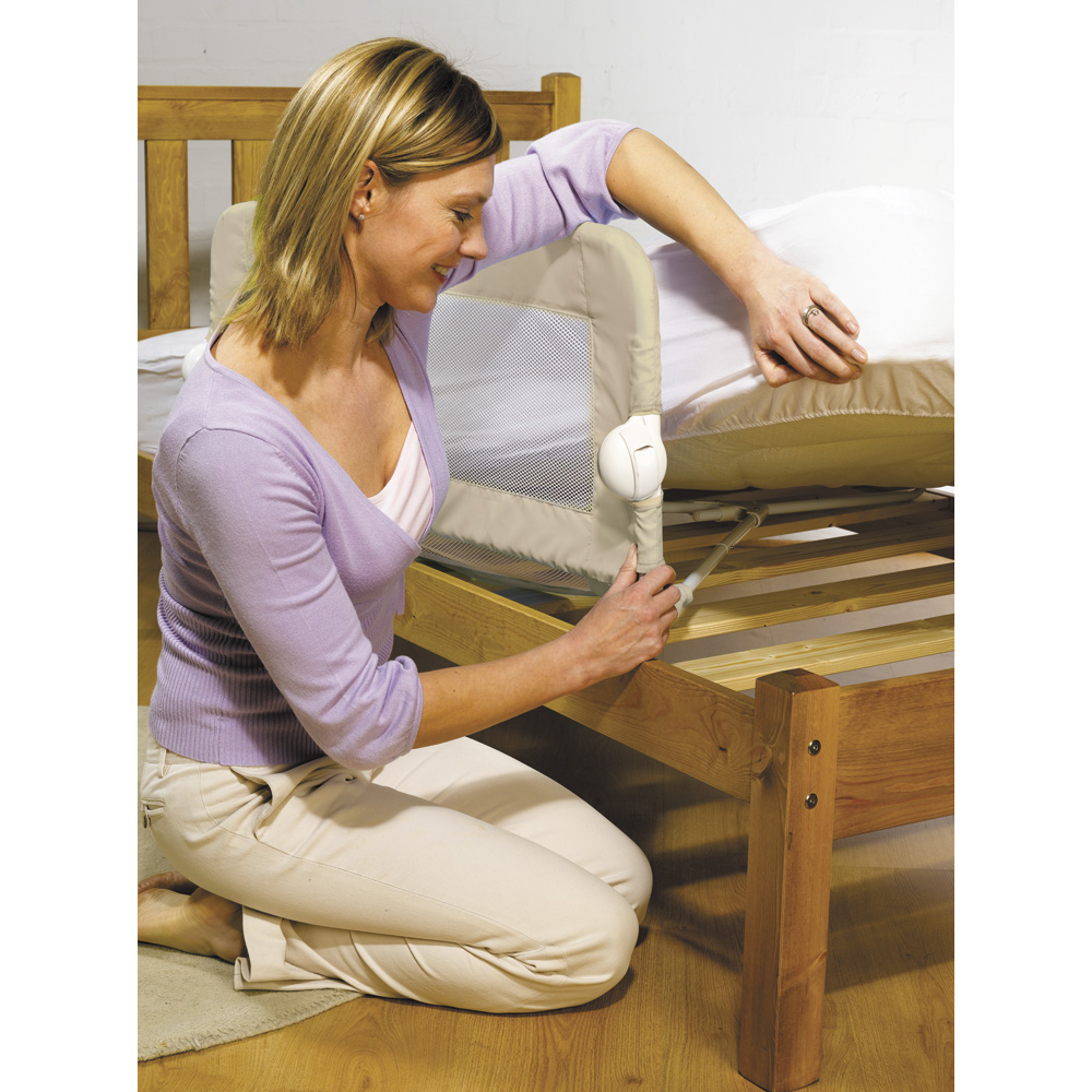 barri re de lit pliable universelle beige 15 sur allob b. Black Bedroom Furniture Sets. Home Design Ideas