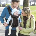 Porte bébé ventral premier noir pas cher