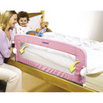 Barriere de lit pliable universelle rose pas cher