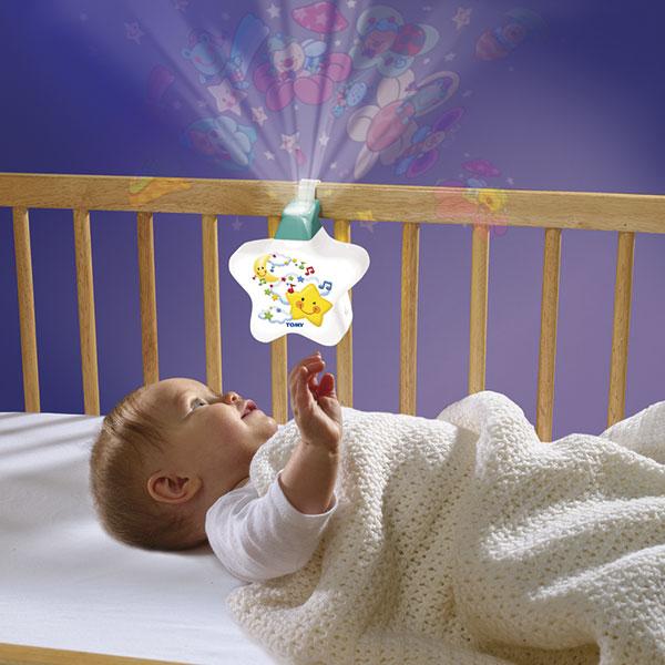 Veilleuse bébé étoile enchantée blanche Tomy