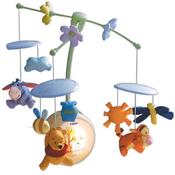mobile sons et lumieres winnie l 39 ourson tomy comparer le moins cher parmi les jeux et jouets d. Black Bedroom Furniture Sets. Home Design Ideas