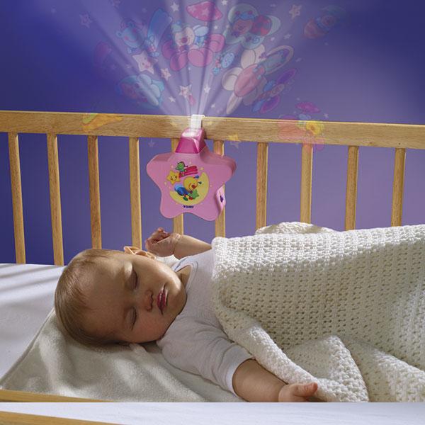Veilleuse bébé étoile enchantée rose Tomy