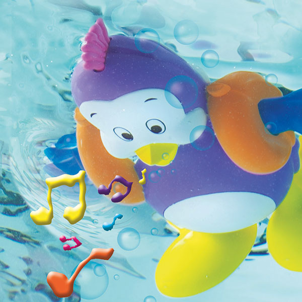 Jouet de bain bébé gloup gloup le pingouin Tomy