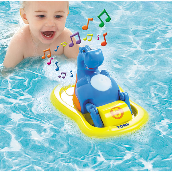jouets de bain b b hippo pedalo 30 sur allob b. Black Bedroom Furniture Sets. Home Design Ideas