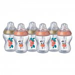 Lot de 6 biberons easi-vent 260 ml déco fille