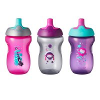 Lot de 3 tasses sporty rose 12m+