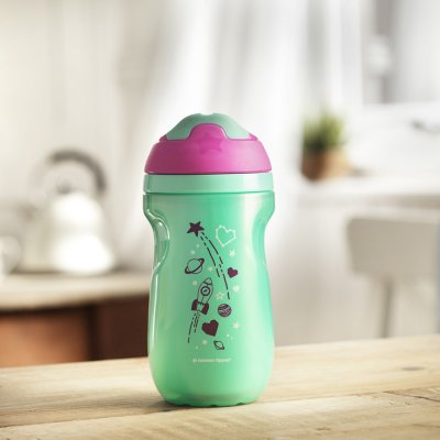 Tasse isotherme à bec fille 12 m+ Tommee tippee