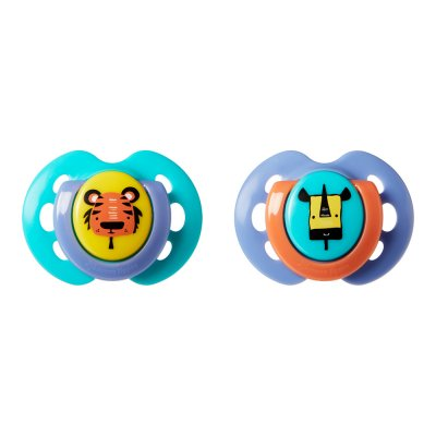 Lot de 2 sucettes fun 0-6 mois Tommee tippee