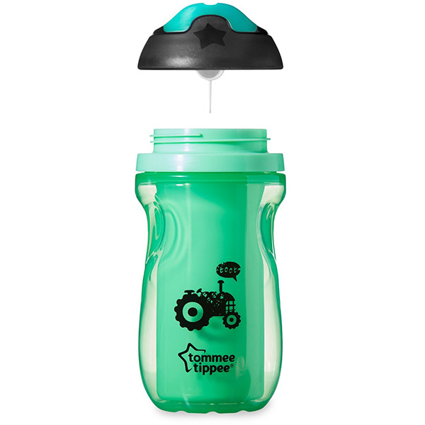 Tasse à bec isotherme garçon 12 mois + Tommee tippee