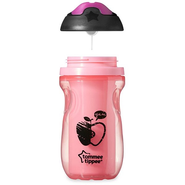Tasse à bec isotherme fille 12 mois + Tommee tippee