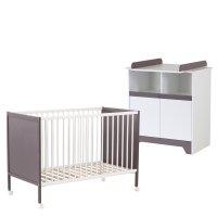 Chambre bébé duo fanny blanc / taupe