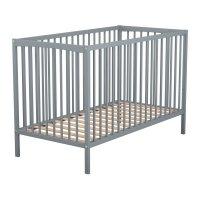 Lit bébé basic gris anthracite 60 x 120 cm