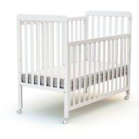 Lit bébé coulissant 60x120 cm confort blanc