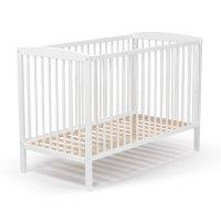 Lit bébé fixe haut blanc 60 x 120 cm