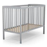 Lit bébé fixe haut gris 60 x 120 cm