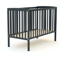 Lit bébé 60x120 confort gris graphite