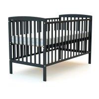 Lit bébé 70x140 confort gris graphite