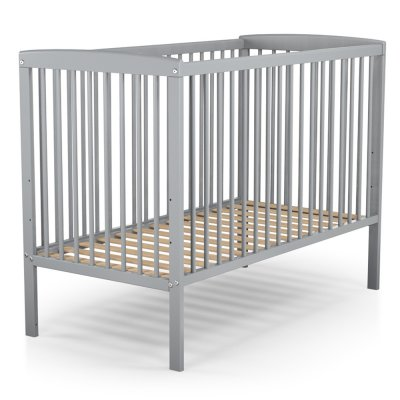 Lit bébé fixe haut gris 60 x 120 cm At4
