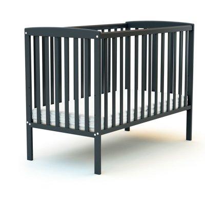 Lit bébé 60x120 confort gris graphite At4