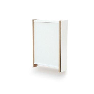 Table à langer murale essentiel plus blanc / hêtre verni At4